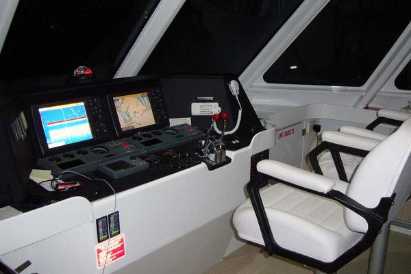 live aboard diving wheelhouse
