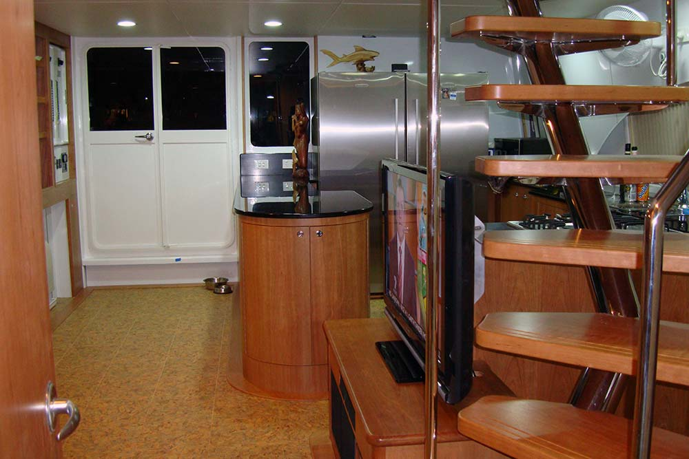 live aboard diving galley