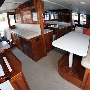 luxury fishing mothership interior