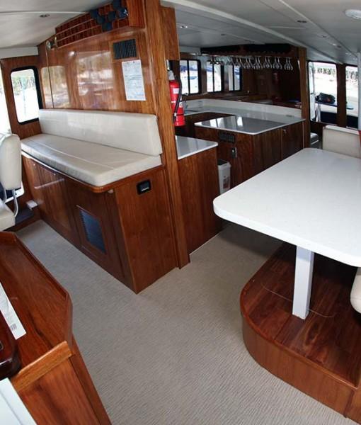 luxury fishing mothership interior