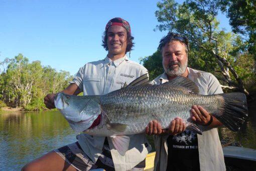 barramundi fishing safari huge fish