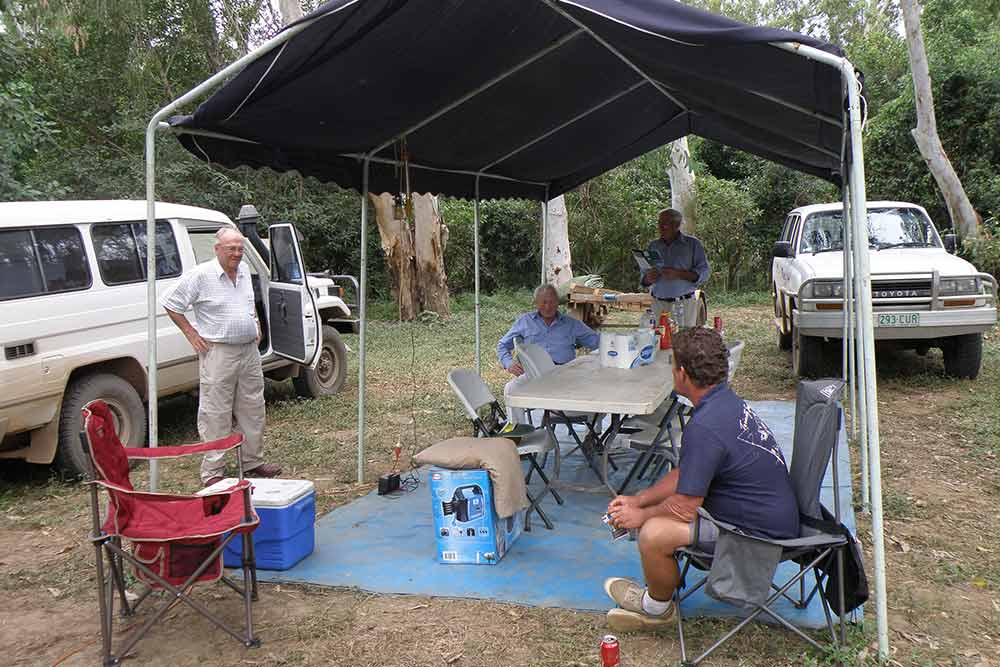 barramundi fishing safari tent city