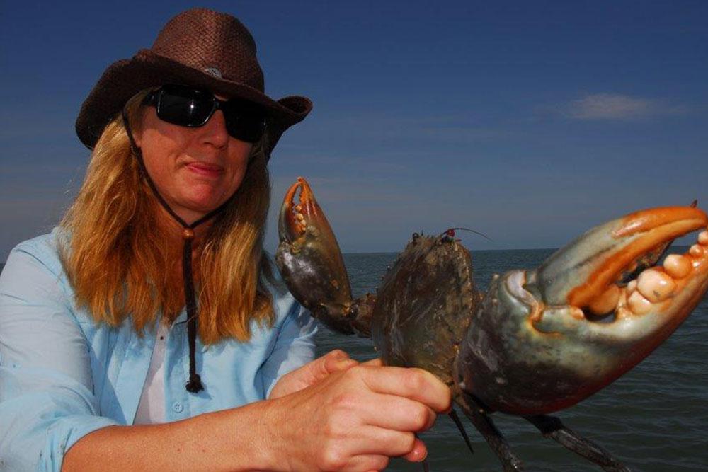 fishing safari mud crab