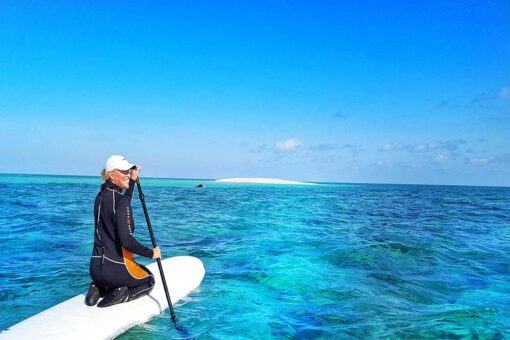 great barrier reef sailing sup
