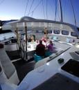 liveaboard sailing catamaran cockpit
