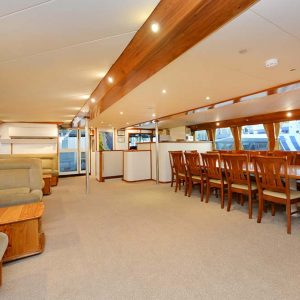 luxury diving liveaboard mothership saloon