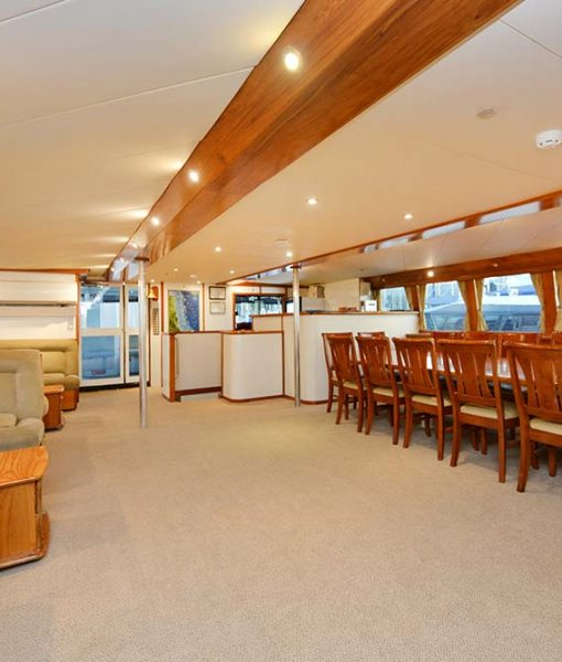 liveaboard mothership saloon