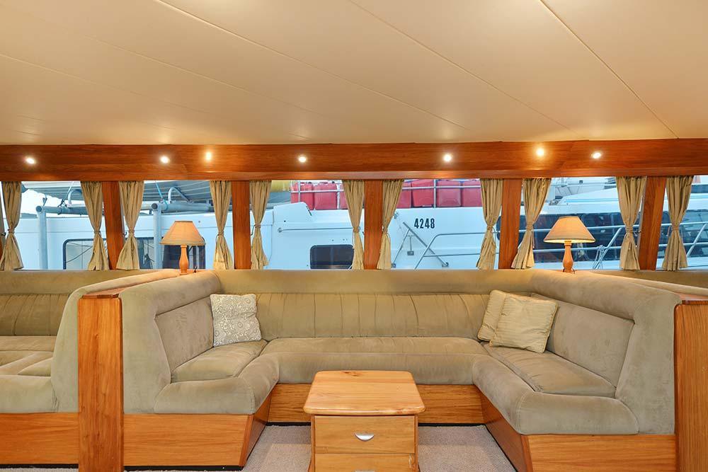 luxury diving mothership saloon
