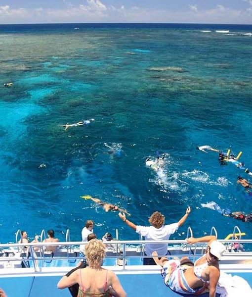 Port Douglas snorkeling rear deck