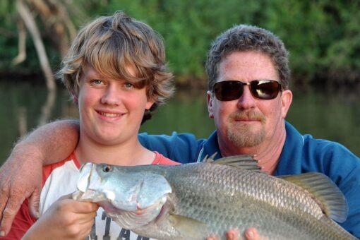 barramundi fishing safari friends