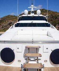 luxury motor yacht deck