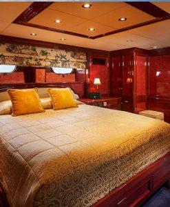luxury motor yacht stateroom