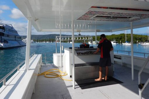 shared reef fishing boat deck